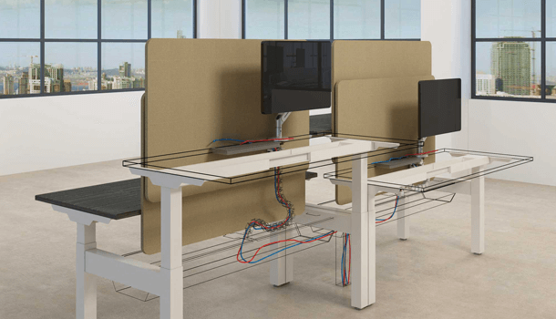 Avail Smart Wiring Height Adjustable Desk