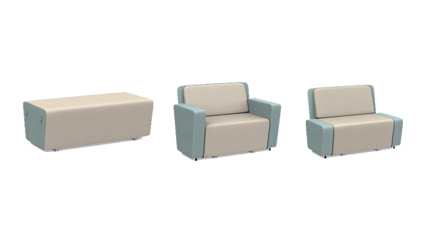 Meta Collaborative Sofa for Office Reception